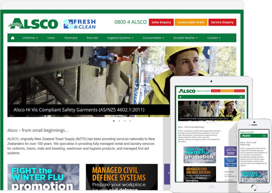Web design - alsco.co.nz