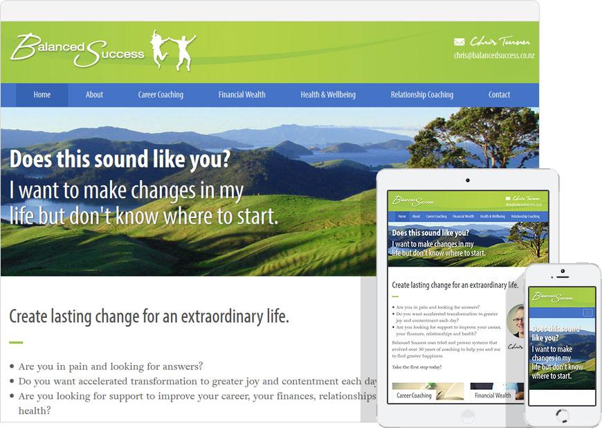 WordPress website Balanced Success