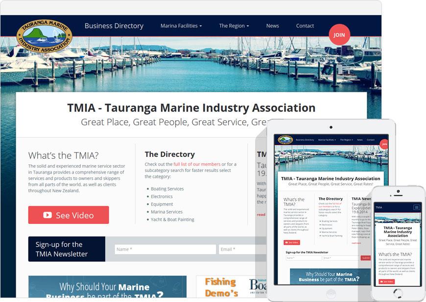 screenshot tmia.co.nz responsive website