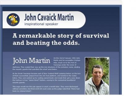 john martin one page website