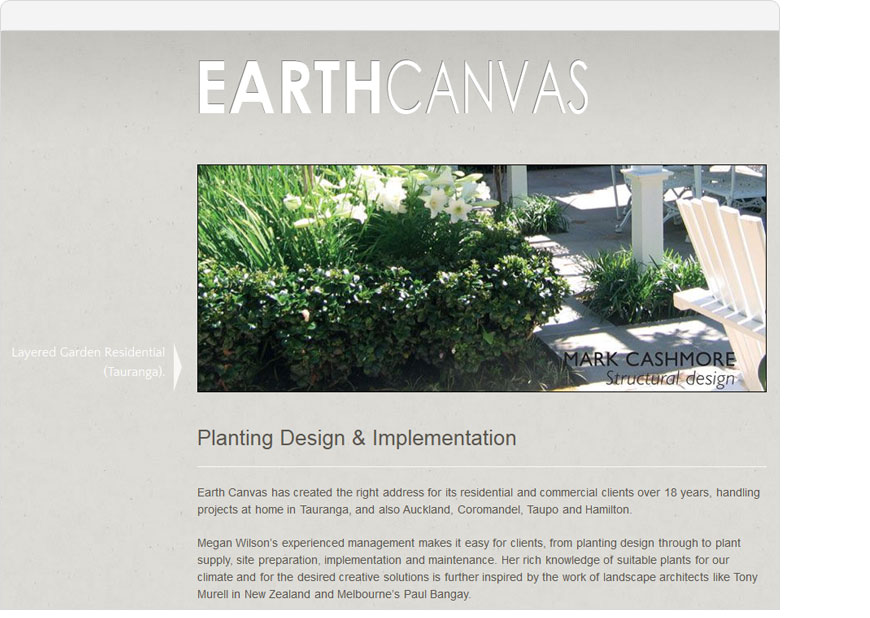 screenshot earth canvas website