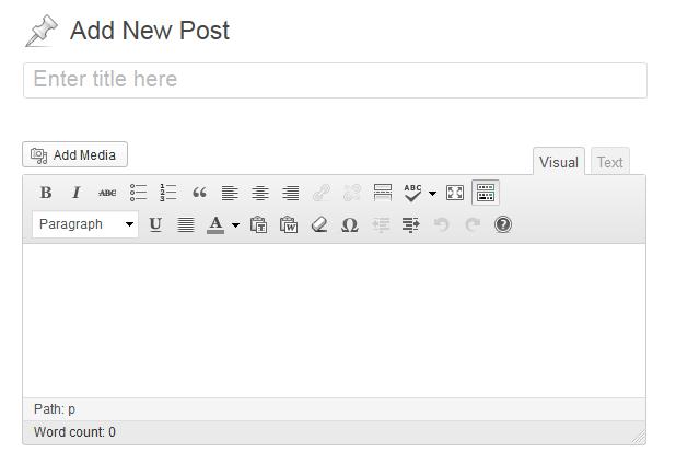 refreshed admin look in WordPress 3.5