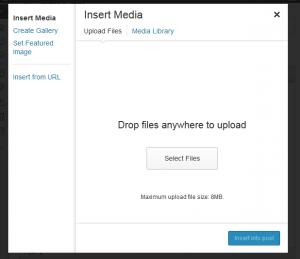 media modal box WordPress 3.5
