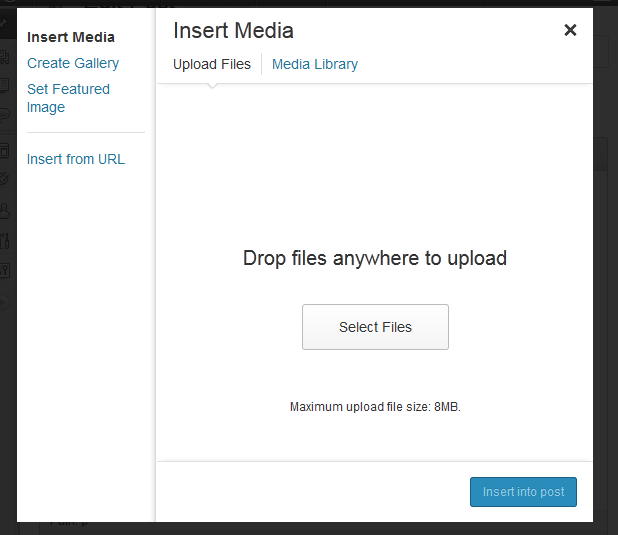 media modal box WordPress 3.5