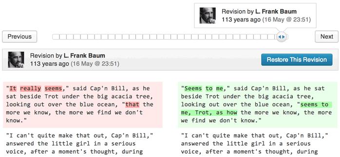 Revision Comparison in WordPress