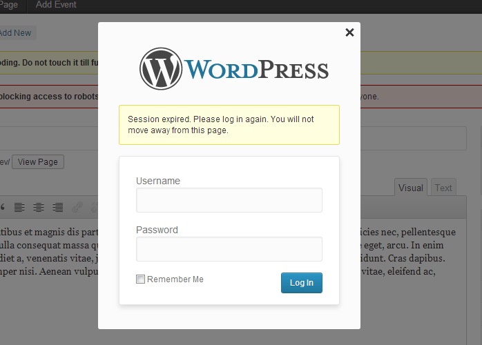Log in Notifications in WordPress