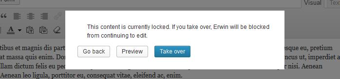 Post Locking in WordPress