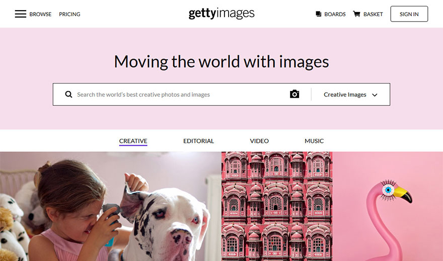 stock photo website gettyimages