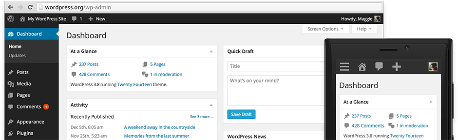 WordPress 3.8 overview
