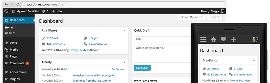 WordPress 3.8 overview