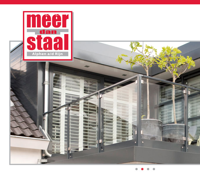website design concept for Meer dan Staal
