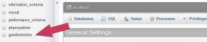 WordPress database select