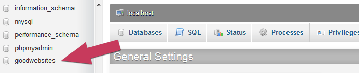 WordPress database select