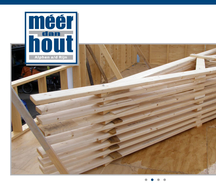 One Page Website for Meer dan Hout