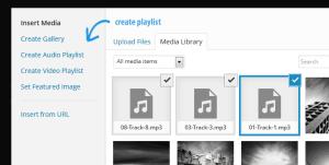 create audio and video playlists WordPress 3.9