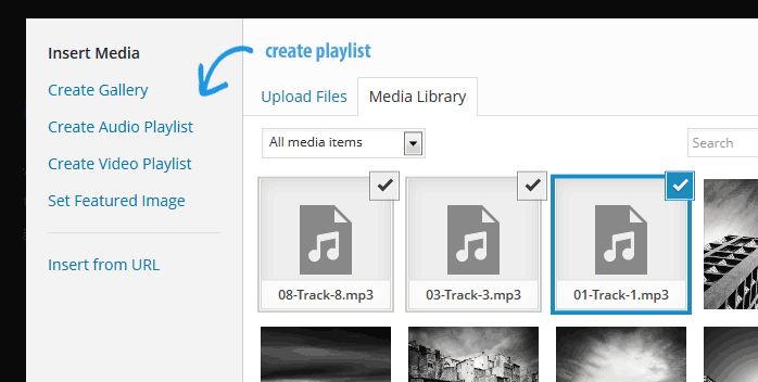 create audio and video playlists WordPress 3.9