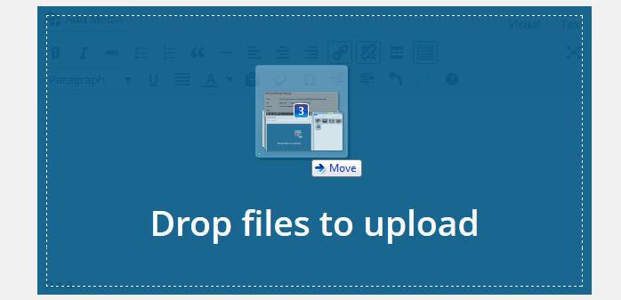 drag and drop image upload WordPress 3.9