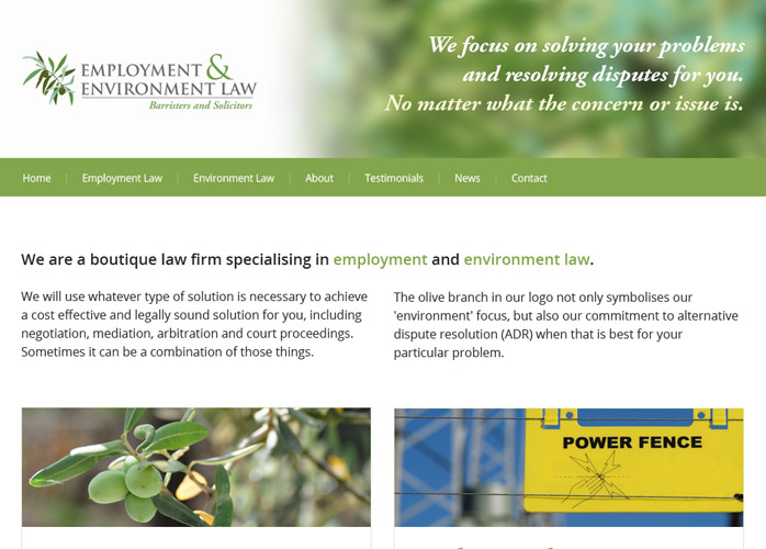 WordPress website for e2law