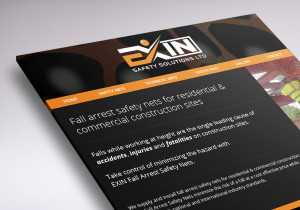 one page website for Exin Safety Solutions