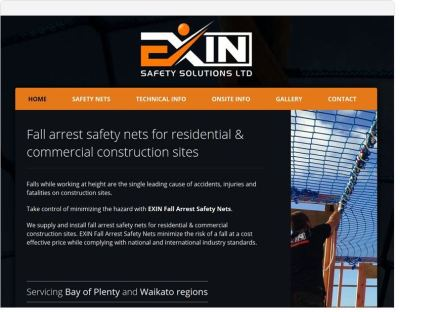 screenshot exin one page website