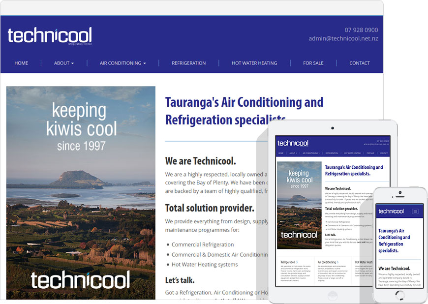 screenshot technicool WordPress website