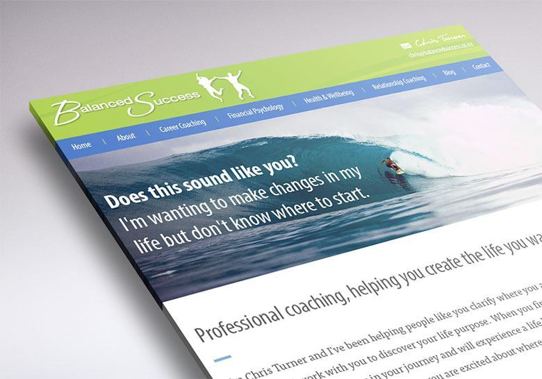 web design sneak-peek balanced success