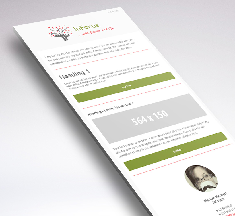 MailChimp newsletter template