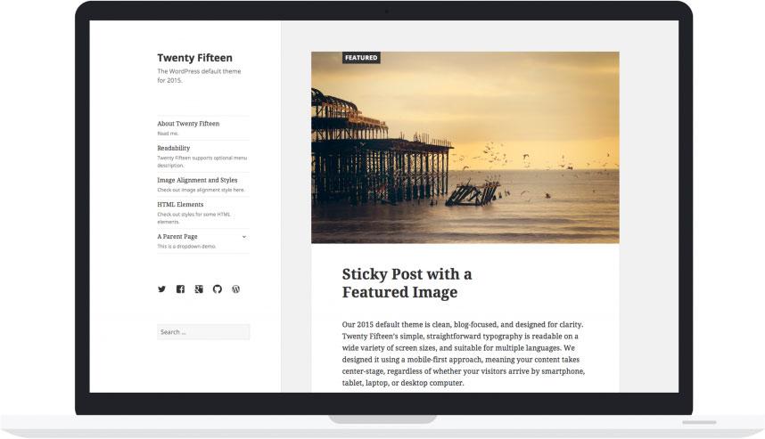 WordPress Twenty Fifteen theme