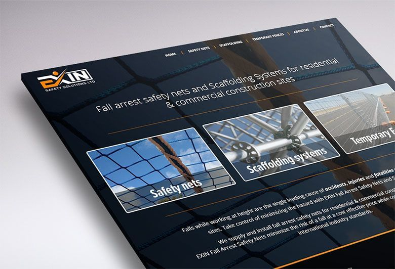 Working on the website design of Exin Safety Solutions (Tauranga, NZ).