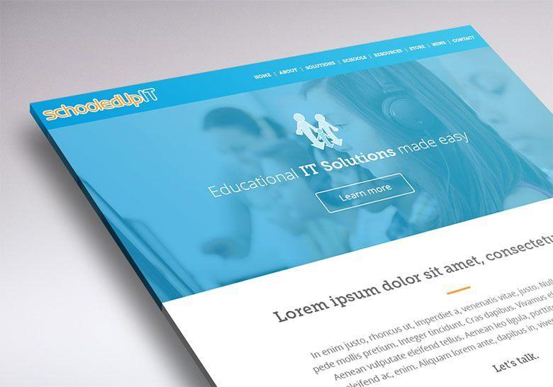 Working on the WordPress website design of Schooled Up It (Wellington, NZ).