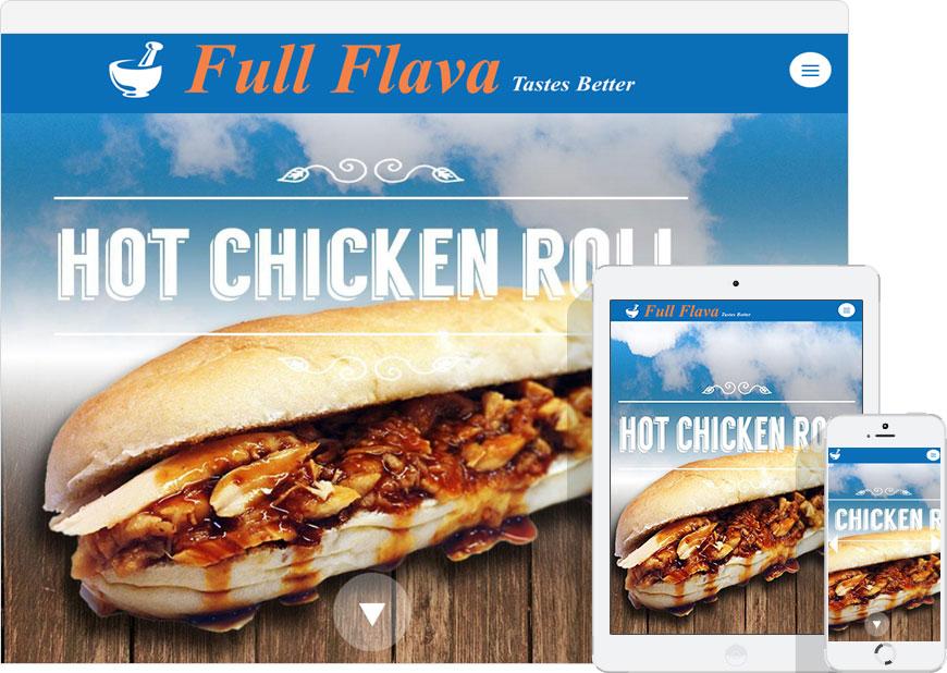 screenshot full flava one page website