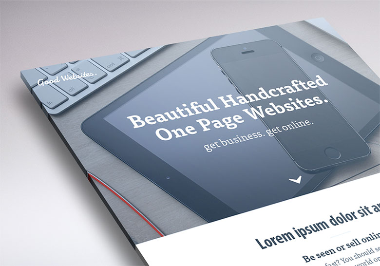 One Page websites landing page