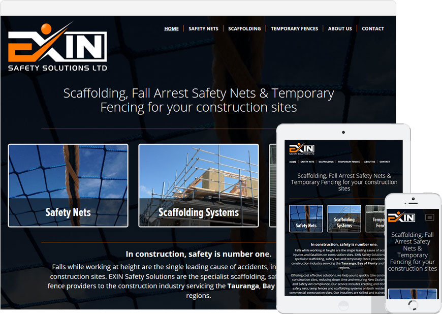 WordPress website for Exin Safety Solutions