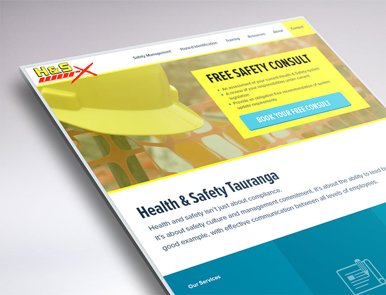 website redesign for Health and Safety Worx