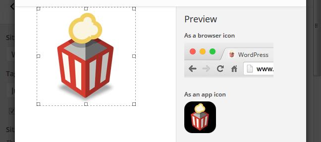 site icon feature WordPress