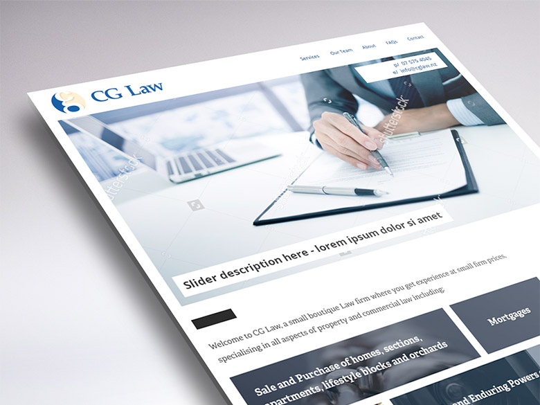 Website design for CG Law