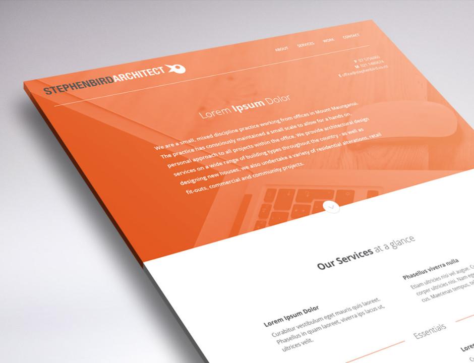 peek stephen bird website design