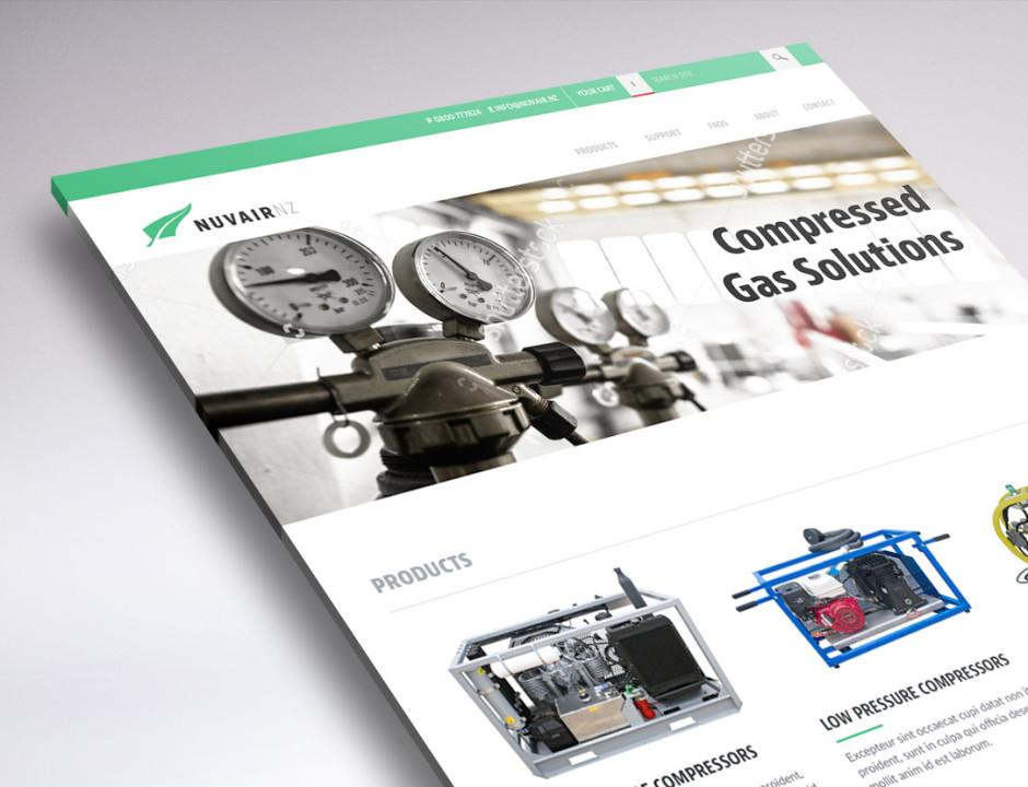Website design for Nuvair NZ
