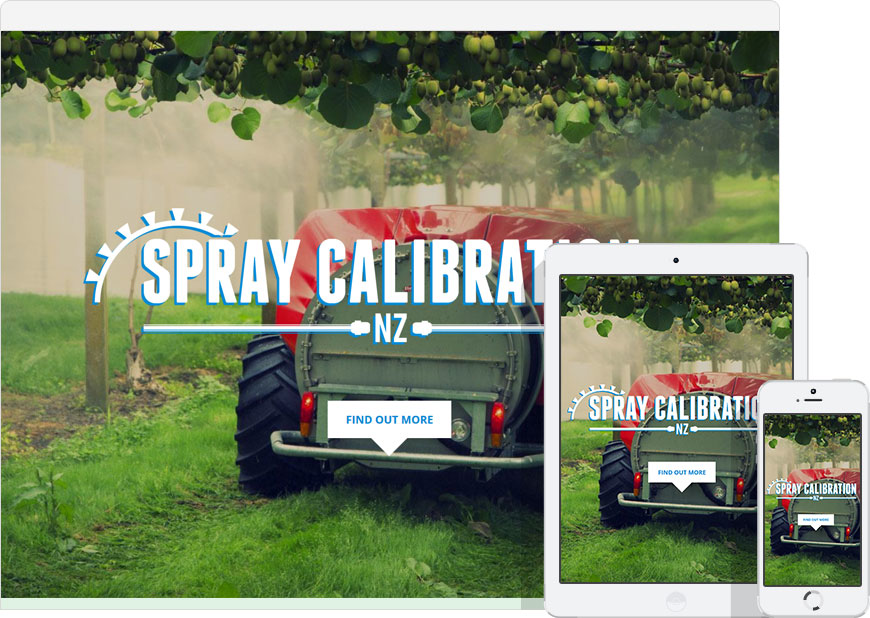 One Page website for Spray Calibration NZ