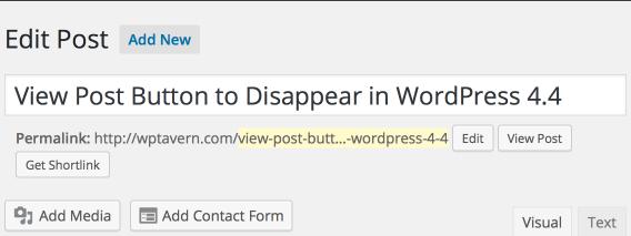 WordPress 4.3 Permalink editor