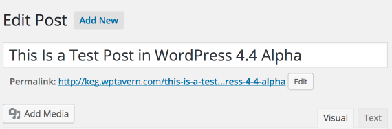 WordPress 4.4 Permalink editor