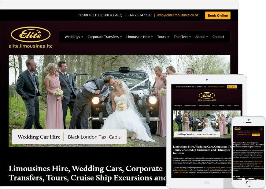 WordPress website for Elite Limousines