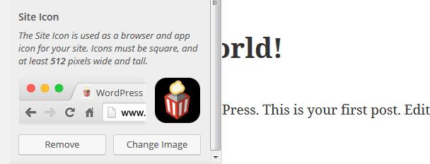 Site Icons Previews - WordPress 4.5