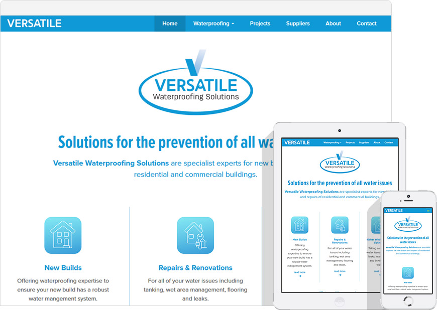 WordPress website for versatile waterproofing solutions