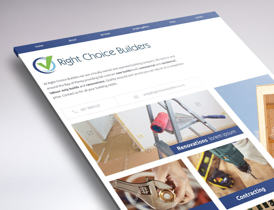 website design Right Choice Builders
