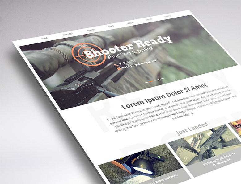website design Shooter Ready