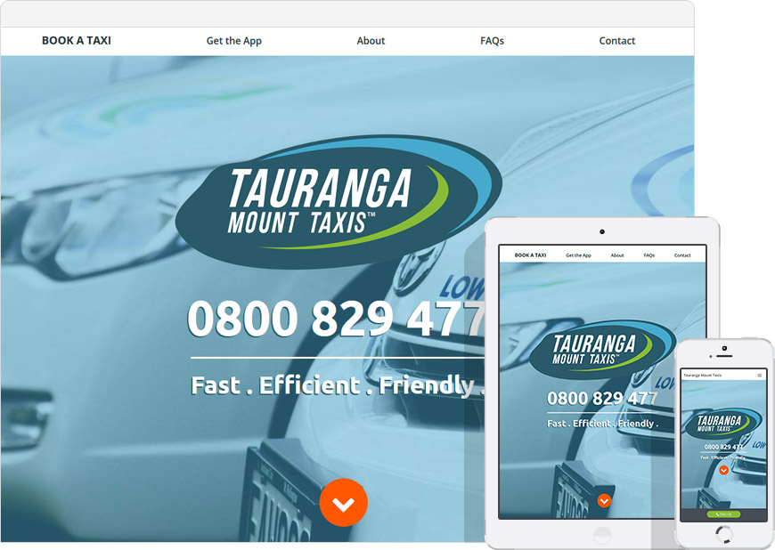 screen shot tauranga taxis websites
