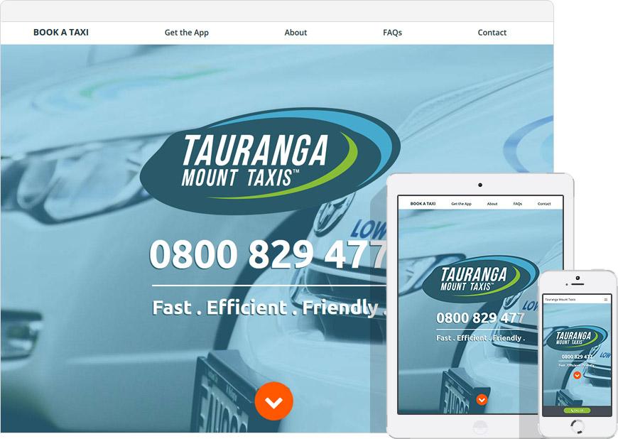 screen shot tauranga taxis websites