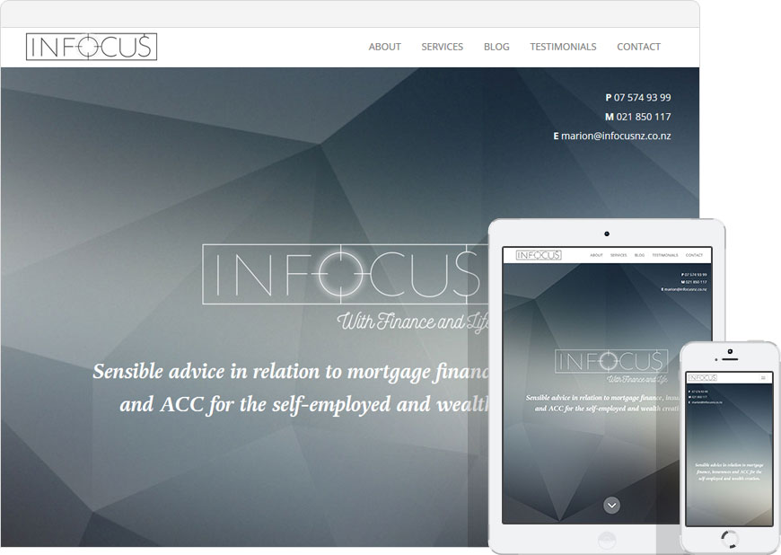 Up and running the website for Infocus