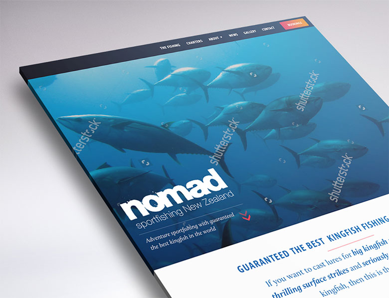 Nomad Sportfishing website design